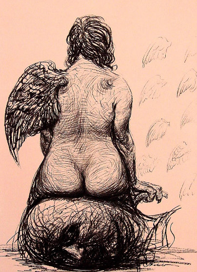 Wings 2002 Limited Edition Print by Roberto Fabelo