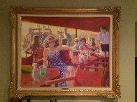 Untitled Painting 1980 44x35 Super Huge Original Painting by Louis Fabien - 1