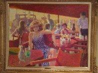 Untitled Painting 1980 44x35 Super Huge Original Painting by Louis Fabien - 2
