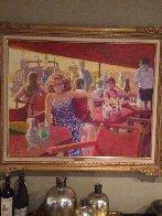 Untitled Painting 1980 44x35 Super Huge Original Painting by Louis Fabien - 3