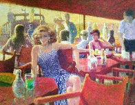 Untitled Painting 1980 44x35 Super Huge Original Painting by Louis Fabien - 0