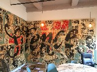 Silence Mural 96x240 Huge Original Painting by  FAILE - 0