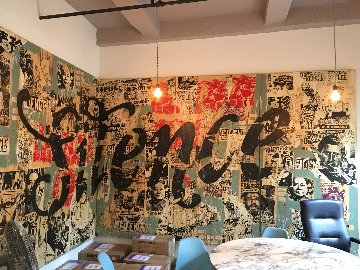 Silence Mural 96x240 Super Huge Original Painting -  FAILE