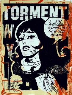 Torment in Orange 2007 Unique Limited Edition Print by  FAILE