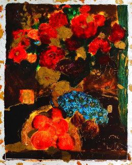 Fleur Rouge 1 1993 Embellished Limited Edition Print - Roy Fairchild-Woodard