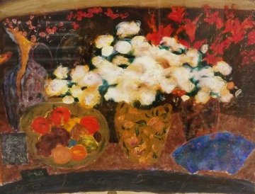 Red And White Flowers 1994 Limited Edition Print by Roy Fairchild-Woodard
