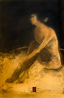Sitting Nude 1993 Limited Edition Print - Roy Fairchild-Woodard