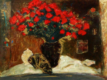 Red Flowers Limited Edition Print - Roy Fairchild-Woodard