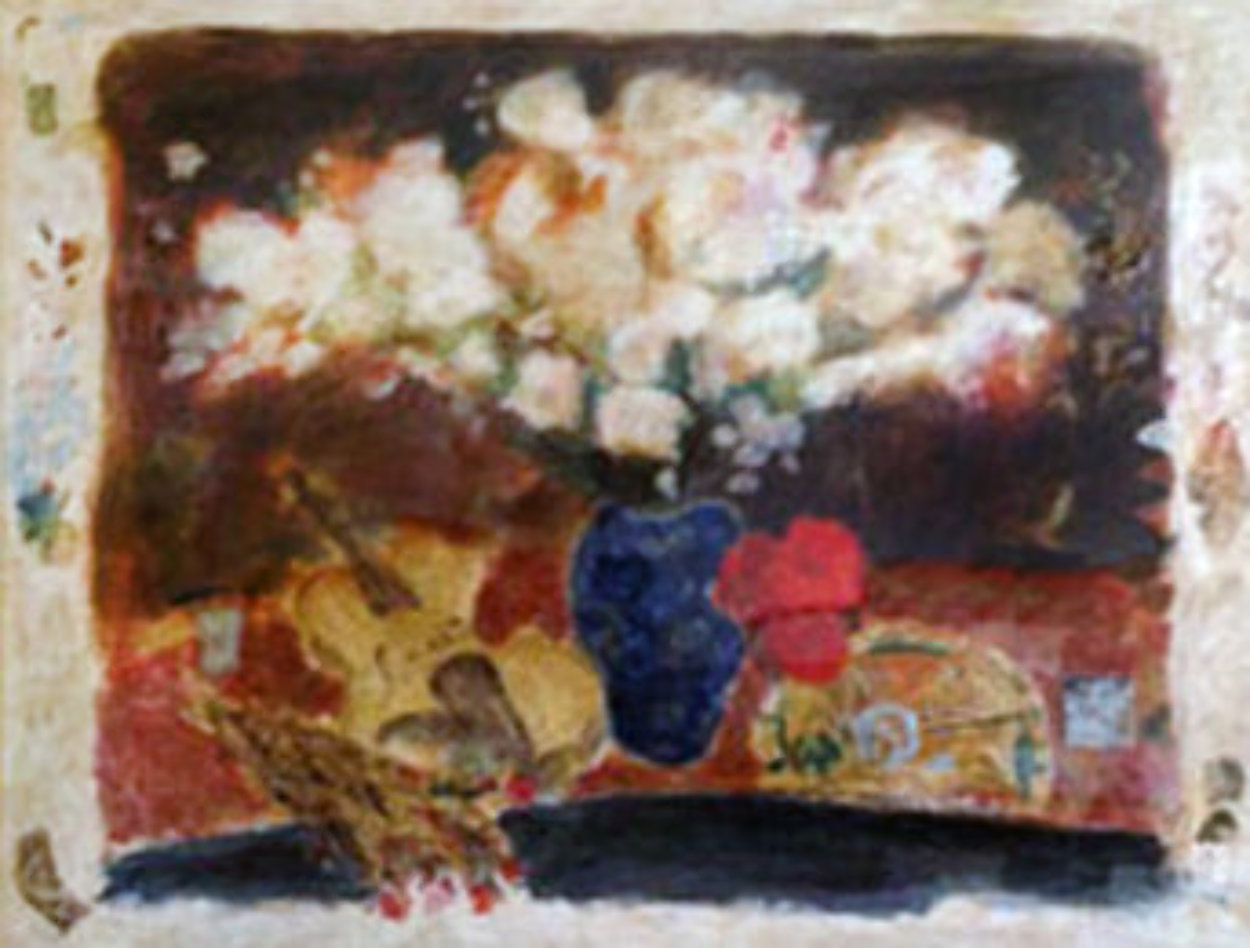 White Flowers 1992 Limited Edition Print by Roy Fairchild-Woodard