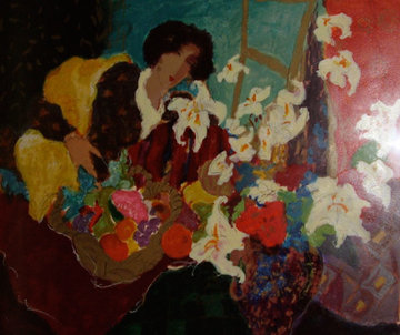 Girl With Lilies 1992 Limited Edition Print by Roy Fairchild-Woodard