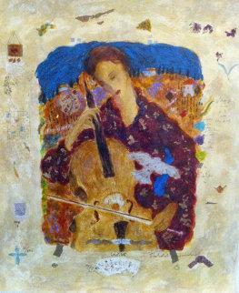 Cellist Limited Edition Print by Roy Fairchild-Woodard