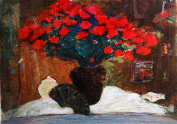 Red Flowers 1990 Limited Edition Print - Roy Fairchild-Woodard