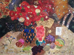 Fruit and Flowers Embellished Limited Edition Print - Roy Fairchild-Woodard