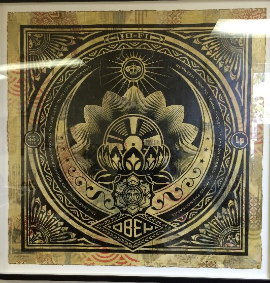 Lp Cover Series Unique 2011 46x46 Works on Paper (not prints) by Shepard Fairey