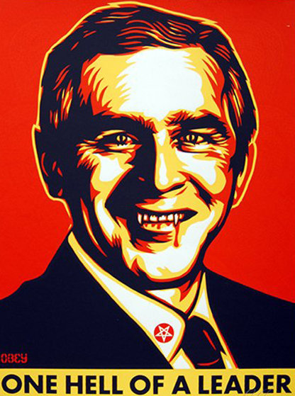 One Hell of a Leader 2004 Limited Edition Print by Shepard Fairey