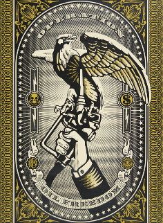Operation Oil Freedom Gold 2007 Limited Edition Print - Shepard Fairey