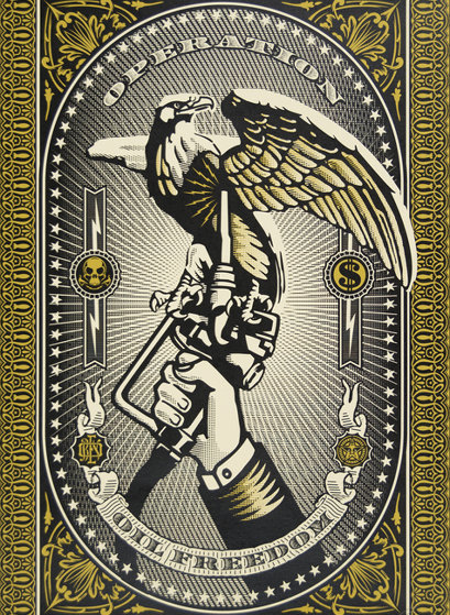 Operation Oil Freedom Gold 2007 Limited Edition Print by Shepard Fairey