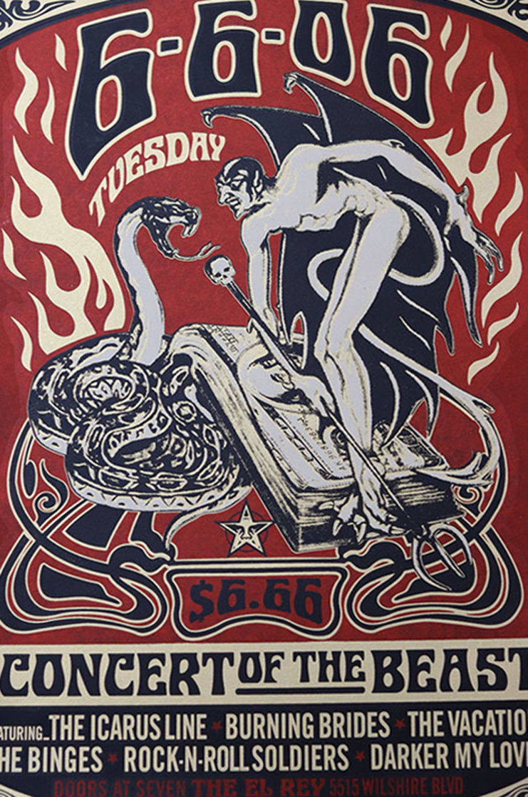Concert of the Beast  2006 Limited Edition Print by Shepard Fairey