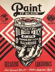Paint It Black - Hand AP Limited Edition Print - Shepard Fairey