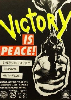 Victory is Peace 2016 (Rare) Limited Edition Print - Shepard Fairey