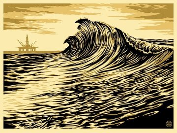 Water Is the New Black 2015 Limited Edition Print by Shepard Fairey