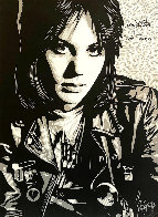 Joan Jett the Runaway 2013 Double Signed Limited Edition Print by Shepard Fairey  - 0
