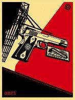 2nd Amendment Solutions 2011 (Gun) Limited Edition Print by Shepard Fairey  - 1
