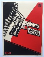2nd Amendment Solutions 2011 (Gun) Limited Edition Print by Shepard Fairey  - 2