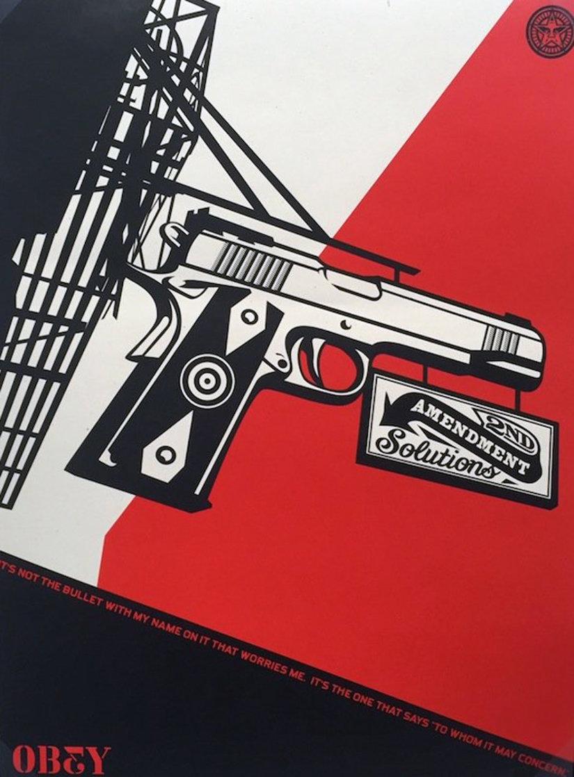 2nd Amendment Solutions 2011 (Gun) Limited Edition Print by Shepard Fairey