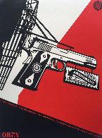 2nd Amendment Solutions 2011 (Gun) Limited Edition Print by Shepard Fairey  - 0