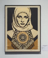 Arab Woman (Gold) 2008 Limited Edition Print by Shepard Fairey  - 1