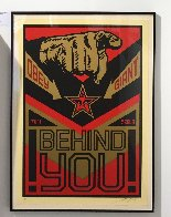 Behind You (Large Format) 2009 Limited Edition Print by Shepard Fairey  - 1