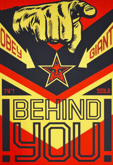 Behind You (Large Format) 2009 Limited Edition Print by Shepard Fairey