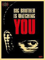 Big Brother is Watching You 2006 Limited Edition Print by Shepard Fairey  - 0