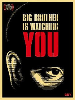 Big Brother is Watching You 2006 Limited Edition Print by Shepard Fairey