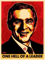 Bush Hell 2004 Limited Edition Print by Shepard Fairey  - 2