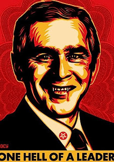Bush Hell 2004 Limited Edition Print - Shepard Fairey