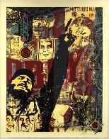 Castro Collage, From This is You God Series (Large Format) 2003 Limited Edition Print by Shepard Fairey  - 6