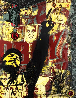 Castro Collage, From This is You God Series (Large Format) 2003 Limited Edition Print by Shepard Fairey