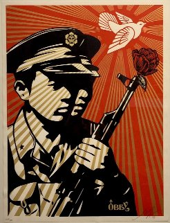 Chinese Soldiers 2006 Limited Edition Print by Shepard Fairey