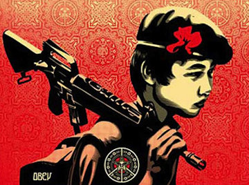 Duality of Humanity #2 2009 Limited Edition Print - Shepard Fairey