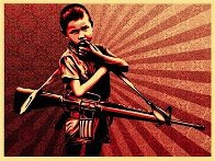 Duality of Humanity #5 2009 Limited Edition Print by Shepard Fairey  - 1