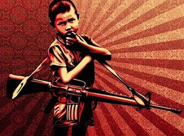 Duality of Humanity #5 2009 Limited Edition Print by Shepard Fairey