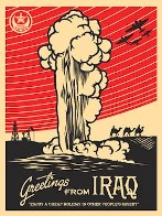 Greetings From Iraq 2005 Limited Edition Print by Shepard Fairey  - 1