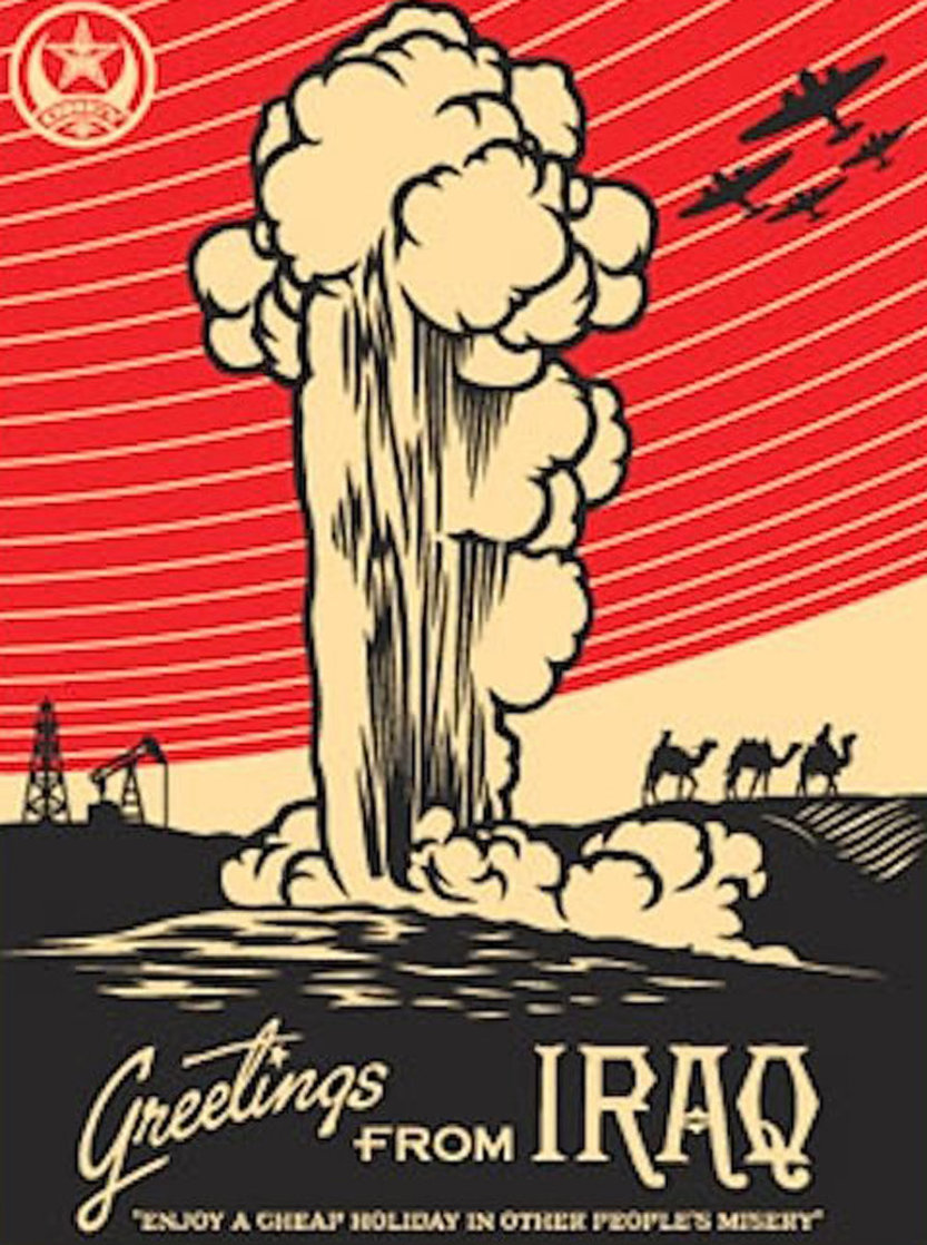 Greetings From Iraq 2005 Limited Edition Print by Shepard Fairey