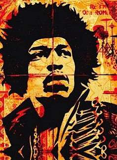 Hendrix 2004 Limited Edition Print by Shepard Fairey