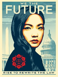 We the Future Triptych, Suite of 3 2018 Limited Edition Print by Shepard Fairey