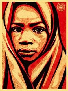 L.e.a.d. Uganda (Blanket)  2009 Limited Edition Print by Shepard Fairey