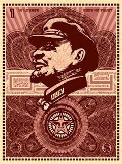 Lenin Money 2003 Limited Edition Print - Shepard Fairey