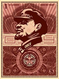 Lenin Money 2003 Limited Edition Print by Shepard Fairey